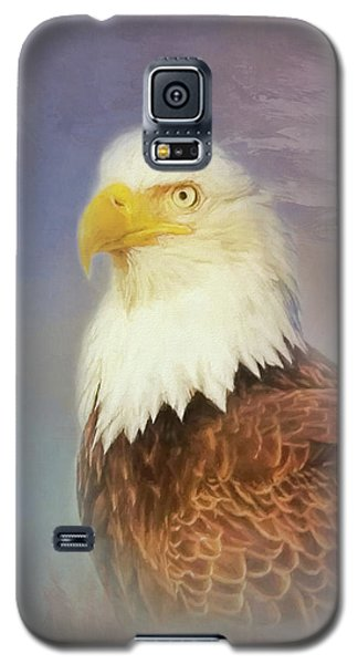 Galaxy S5 Case featuring the painting American Eagle by Steven Richardson