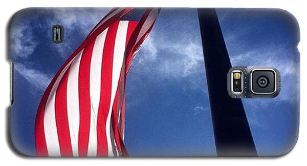 Patriotic Galaxy S5 Case - American Flag At Rick Case Honda Weston by Juan Silva