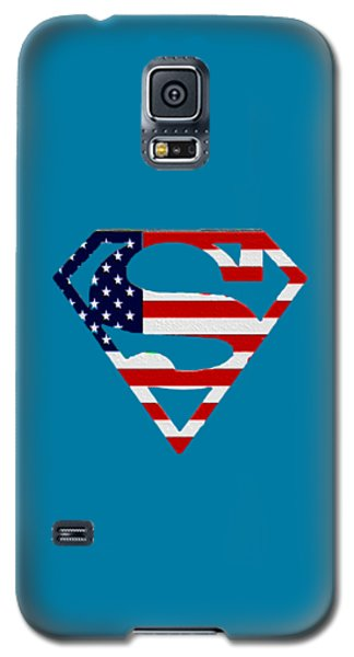 American Flag Superman Shield Galaxy S5 Case