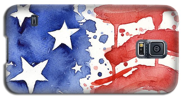 The White House Galaxy S5 Case - American Flag Watercolor Painting by Olga Shvartsur
