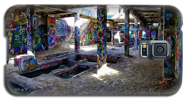 Galaxy S5 Case featuring the photograph American Flat Mill Basement Virginia City Nevada by Scott McGuire