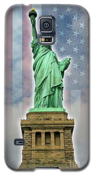 Galaxy S5 Case featuring the digital art American Liberty by Timothy Lowry
