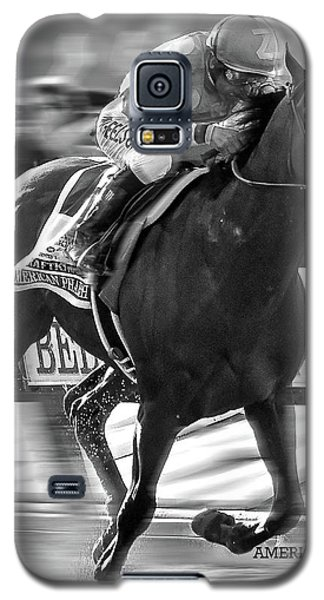 American Pharoah And Victor Espinoza Win The 2015 Belmont Stakes Galaxy S5 Case