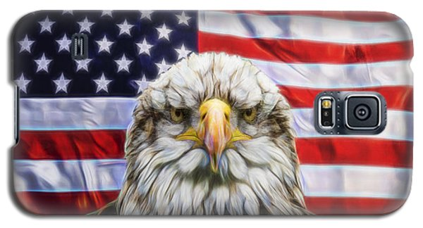 Galaxy S5 Case featuring the photograph American Pride by Scott Carruthers