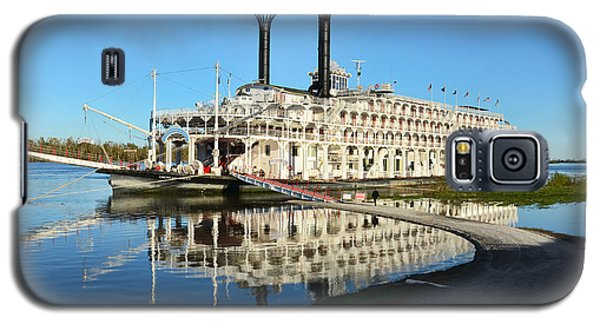 American Queen Steamboat Reflections On The Mississippi River Galaxy S5 Case