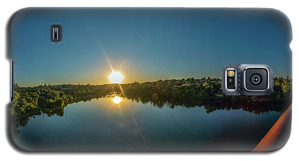 American River At Sunrise - Panorama Galaxy S5 Case