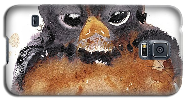 Galaxy S5 Case featuring the painting American Robin by Dawn Derman