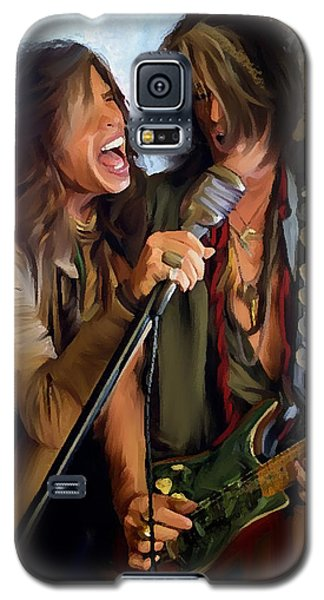 Steven Tyler Galaxy S5 Case - American Rock  Steven Tyler And Joe Perry by Iconic Images Art Gallery David Pucciarelli