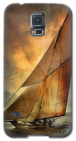 Galaxy S5 Case featuring the digital art America's Cup 1 by Andrzej Szczerski