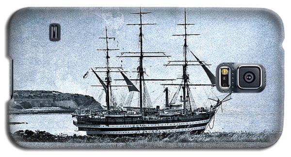 Amerigo Vespucci Sailboat In Blue Galaxy S5 Case