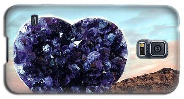 Amethyst Vortex Heart Sedona Galaxy S5 Case