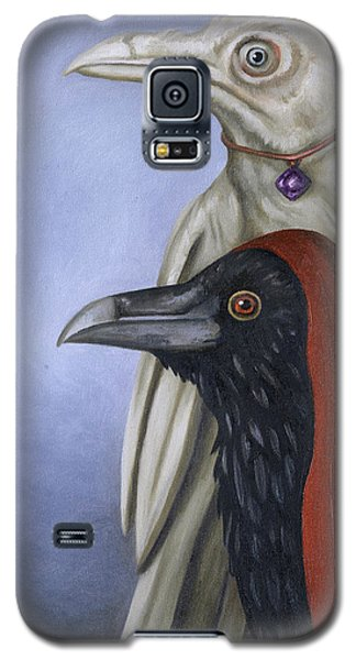 Galaxy S5 Case featuring the painting Amethyst by Leah Saulnier The Painting Maniac