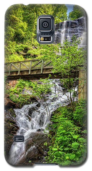 Galaxy S5 Case featuring the photograph Amicalola Falls Top To Bottom by Debra and Dave Vanderlaan