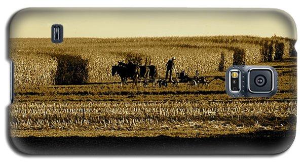 Amish Cornfield In Shadows Galaxy S5 Case