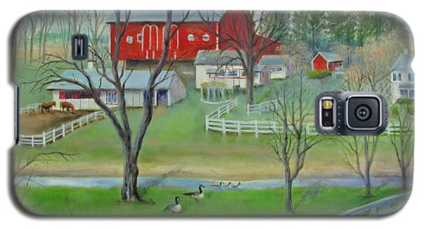 Galaxy S5 Case featuring the painting Amish Farm by Oz Freedgood