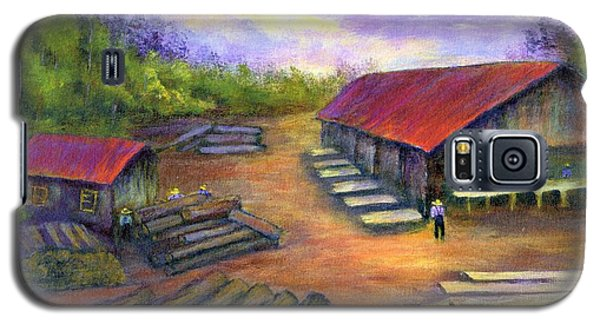 Galaxy S5 Case featuring the painting Amish Lumbermill by Gail Kirtz