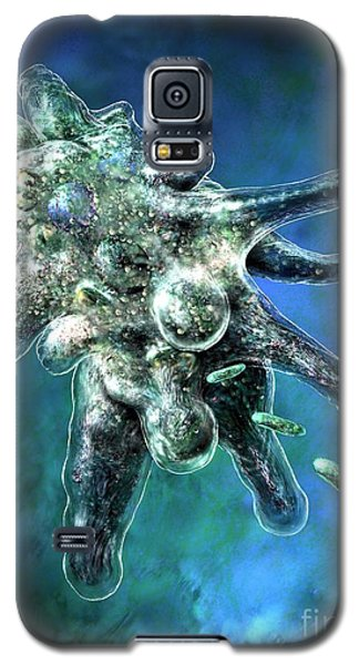 Amoeba Blue Galaxy S5 Case