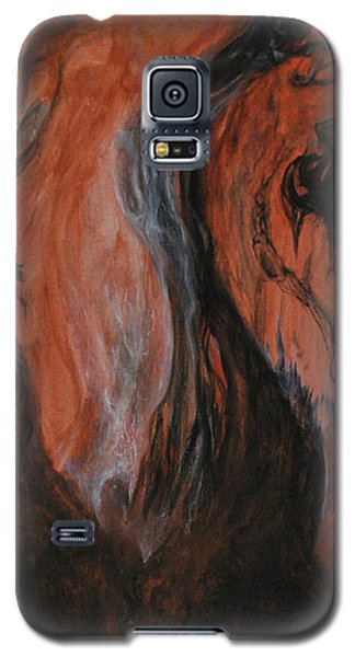 Galaxy S5 Case featuring the painting Amongst The Shades by Christophe Ennis