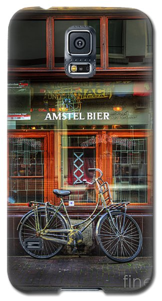 Galaxy S5 Case featuring the photograph Amstel Bier Bicycle by Craig J Satterlee