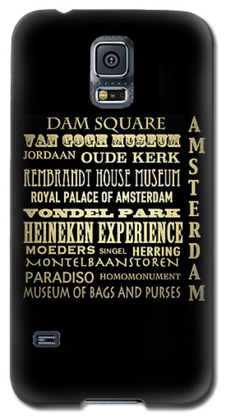Amsterdam Famous Landmarks Galaxy S5 Case