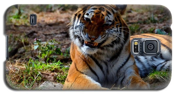 Galaxy S5 Case featuring the mixed media Amur Tiger 4 by Angelina Vick
