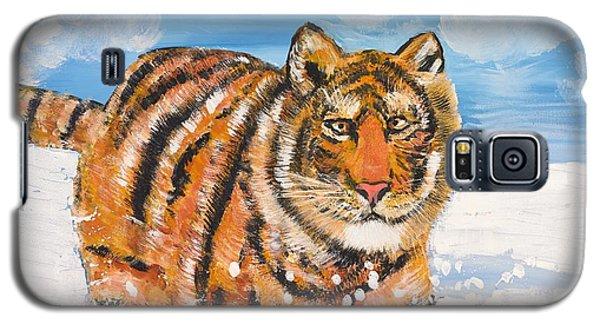 Amur Tiger Galaxy S5 Case by Valerie Ornstein