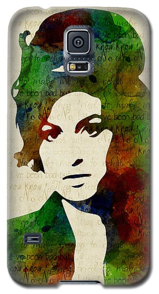 Amy Winehouse Watercolor Galaxy S5 Case