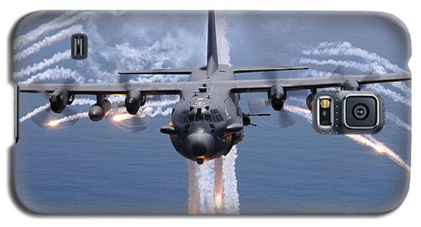 An Ac-130h Gunship Aircraft Jettisons Galaxy S5 Case