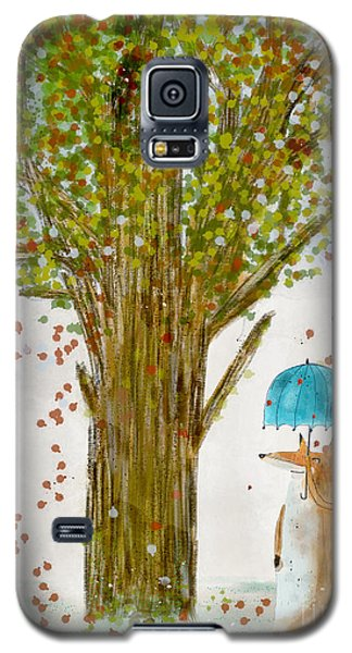 Galaxy S5 Case featuring the painting An Autumns Day by Bri B