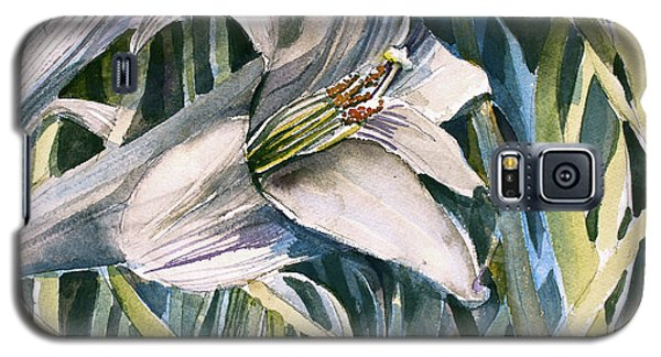 Galaxy S5 Case featuring the painting An Easter Lily by Mindy Newman