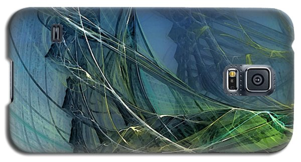 Galaxy S5 Case featuring the digital art An Echo Of Speed by Karin Kuhlmann