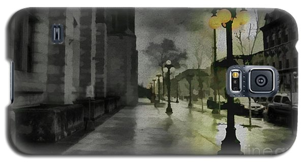 Galaxy S5 Case featuring the mixed media An Evening In Paris by Jim  Hatch