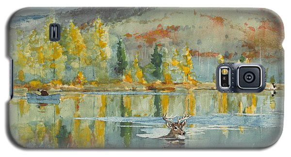 Galaxy S5 Case featuring the painting An October Day by Winslow Homer