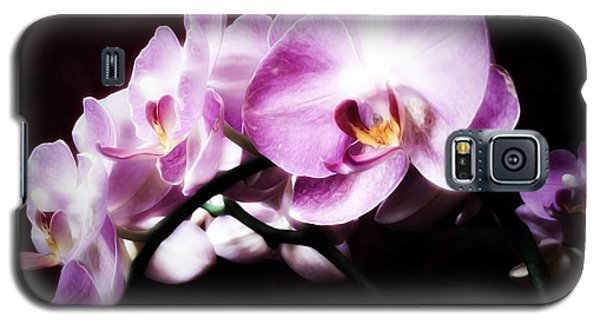 Galaxy S5 Case featuring the mixed media An Orchid For You by Gabriella Weninger - David