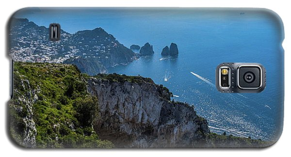 Anacapri On Isle Of Capri Galaxy S5 Case by Marilyn Burton