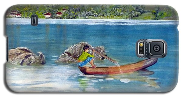 Galaxy S5 Case featuring the painting Anak Dan Perahu by Melly Terpening
