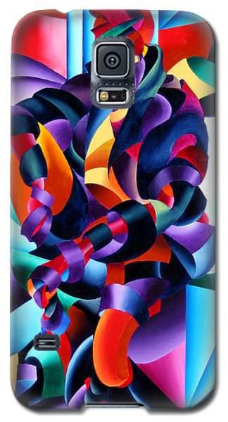 Galaxy S5 Case featuring the painting Anamorphosis From The Outside In by Mark Webster