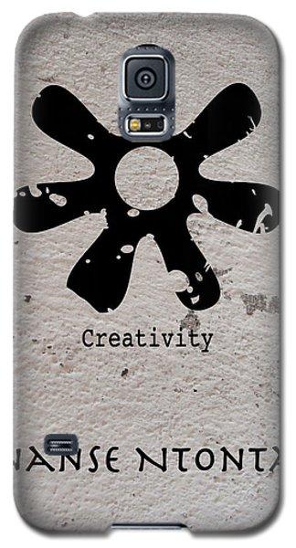 Galaxy S5 Case featuring the digital art Ananse Ntontan Adinkra Symbol by Kandy Hurley