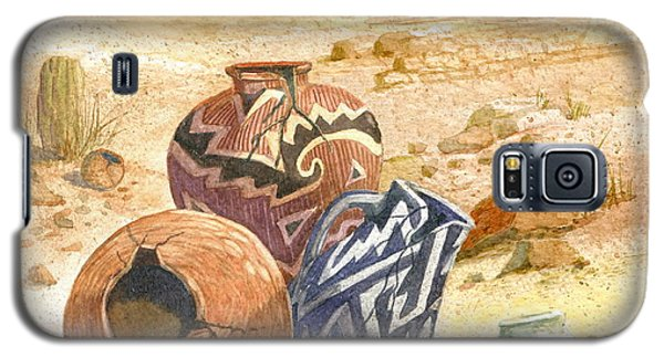 Galaxy S5 Case featuring the painting Anasazi Remnants by Marilyn Smith