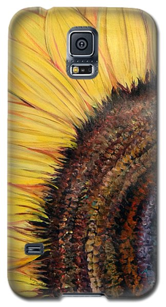 Galaxy S5 Case featuring the painting Anatomy Of A Sunflower by Ecinja Art Works