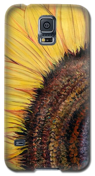 Anatomy Of A Sunflower Galaxy S5 Case by Ecinja Art Works