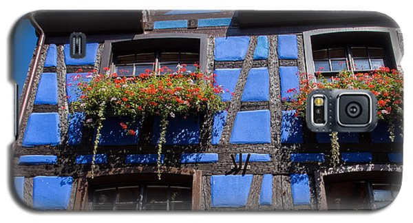 Ancient Alsace Auberge In Blue Galaxy S5 Case