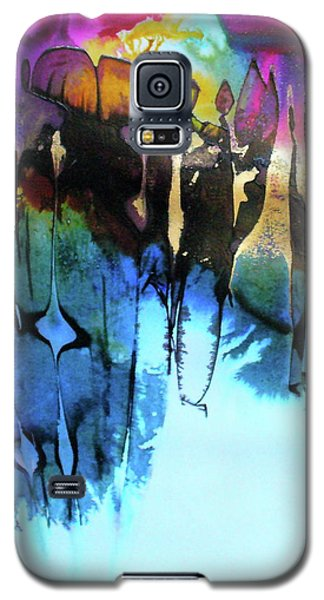 Galaxy S5 Case featuring the painting Ancient Echoes by Mary Sullivan