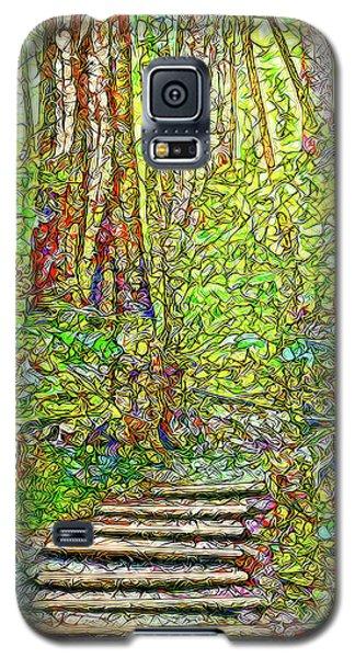 Galaxy S5 Case featuring the digital art Ancient Forest Path - Tamalpais California by Joel Bruce Wallach