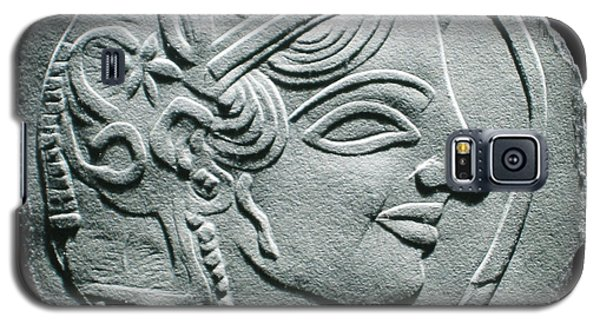 Galaxy S5 Case featuring the relief Ancient Greek Relief Seal Drawing by Suhas Tavkar
