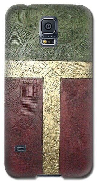 Galaxy S5 Case featuring the painting Ancient Hieroglyphics by Bernard Goodman