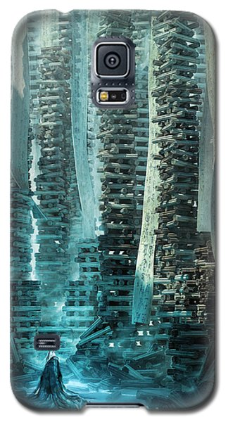 Ancient Library V1 Galaxy S5 Case by Te Hu