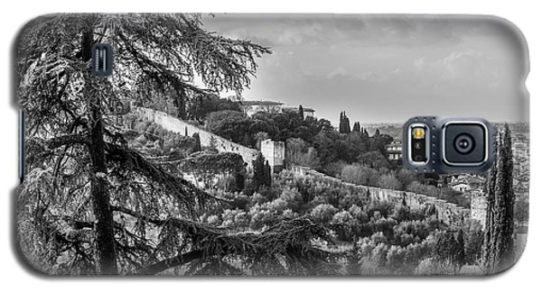 Galaxy S5 Case featuring the photograph Ancient Walls Of Florence-bandw by Sonny Marcyan