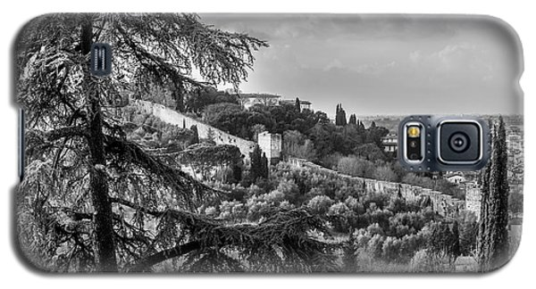 Ancient Walls Of Florence-bandw Galaxy S5 Case