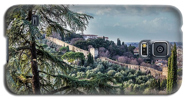 Ancient Walls Of Florence Galaxy S5 Case by Sonny Marcyan